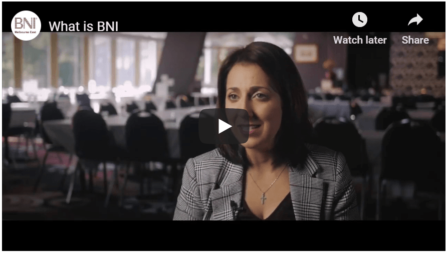 The Benefits of BNI in a video